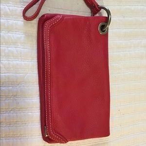Talbots Pink Leather Wristlet